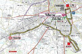 Mapa I etapu 68 TdP